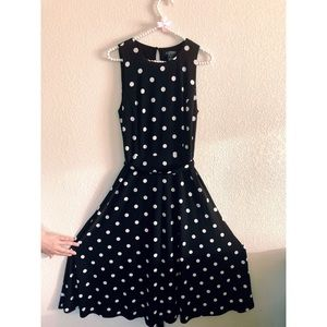 Ralph Lauren Polkadot Black & White Dress